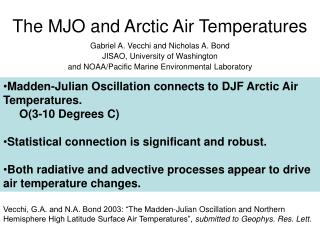 The MJO and Arctic Air Temperatures