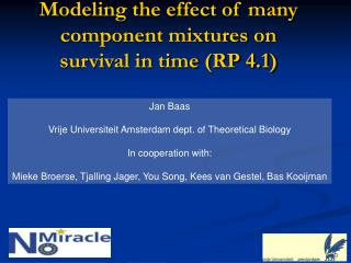 Modeling the effect of many component mixtures on survival in time (RP 4.1)