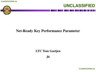 Net-Ready Key Performance Parameter
