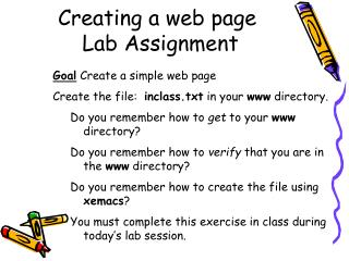 Creating a web page  Lab Assignment