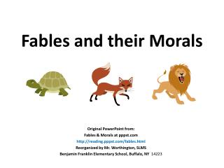 Fables and their Morals