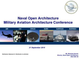Naval Open Architecture Military Aviation Architecture Conference
