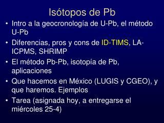 Isótopos de Pb