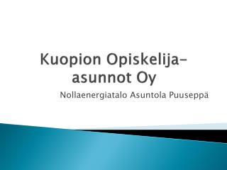 Kuopion Opiskelija-asunnot Oy