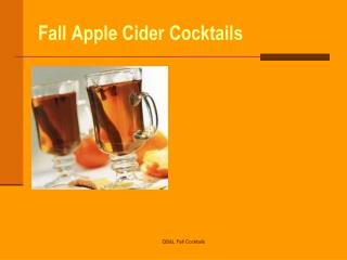 Fall Apple Cider Cocktails