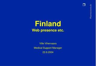 Finland Web presence etc.