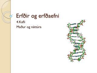 Erfðir og erfðaefni