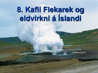 8. Kafli Flekarek og eldvirkni á Íslandi