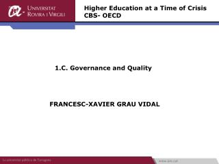 1.C. Governance and Quality