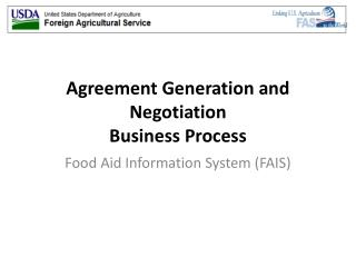 Agreement Generation and Negotiation Business Process