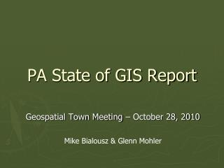 PA State of GIS Report