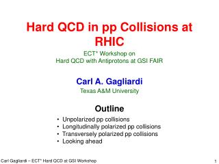 Hard QCD in pp Collisions at RHIC