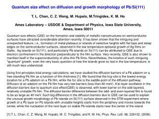 Pb Adatom Diffusion on Pb(111) film