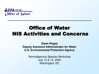 Office of Water  NIS Activities and Concerns