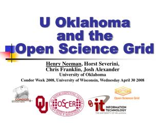 U Oklahoma and the Open Science Grid