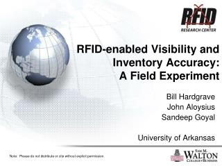 RFID-enabled Visibility and Inventory Accuracy:  A Field Experiment