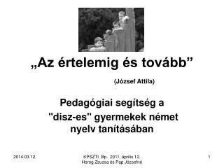 Az  rtelemig  s tov bb    J zsef Attila