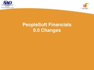 PeopleSoft Financials 9.0 Changes