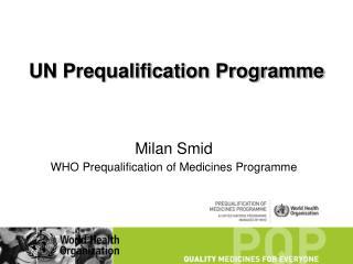UN Prequalification Programme