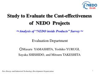 Study to Evaluate the Cost-effectiveness  of  NEDO  Projects