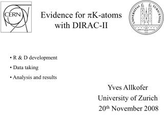 Evidence for  pK -atoms with DIRAC-II