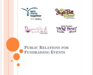 Public Relations for Fundraising Events
