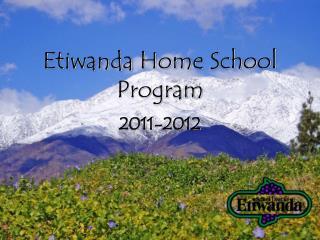 Etiwanda Home School Program