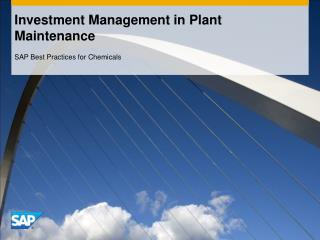 Investment Management in Plant Maintenance