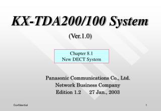KX-TDA200/100 System (Ver.1.0)