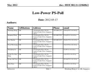 Low-Power PS-Poll