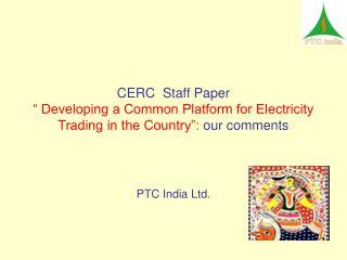 PTC India Ltd.