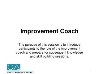 Improvement Coach