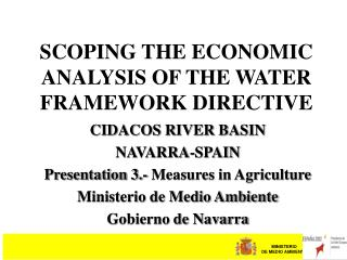 SCOPING THE ECONOMIC ANALYSIS OF THE WATER FRAMEWORK DIRECTIVE