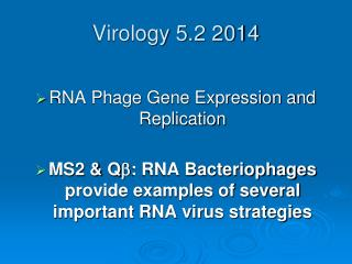Virology 5.2 2014