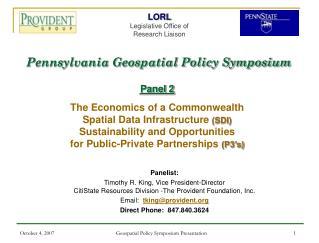 Pennsylvania Geospatial Policy Symposium