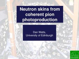 Neutron skins from coherent pion  photoproduction