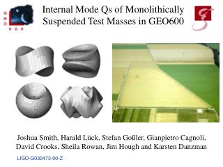 Internal Mode Qs of Monolithically Suspended Test Masses in GEO600