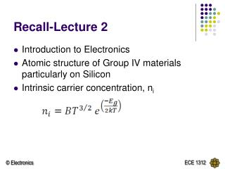 Recall-Lecture 2