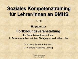 Soziales Kompetenztraining f r Lehrer