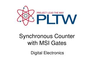 Synchronous Counter with MSI Gates