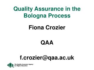 Quality Assurance in the Bologna Process