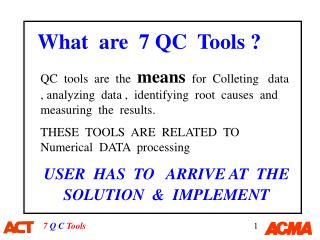 What  are  7 QC  Tools ?