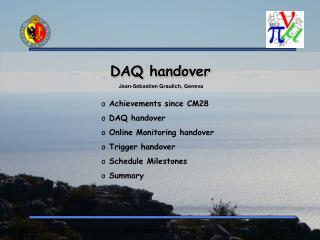 DAQ handover