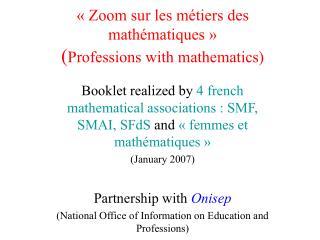 Zoom sur les m tiers des math matiques   Professions with mathematics