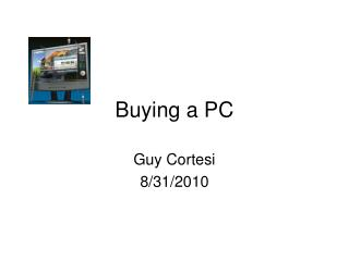 Buying a PC