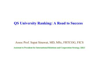QS University Ranking: A Road to Success