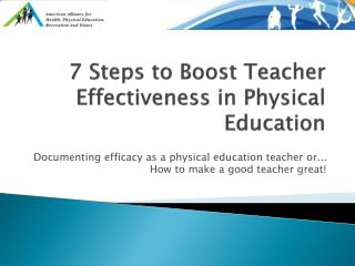 7 Steps to Boost Teacher Effectiveness in Physical Education