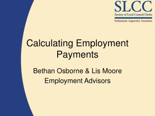 Calculating Employment Payments