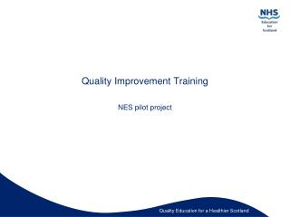 Quality Improvement Training