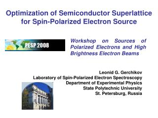 Optimization of Semiconductor Superlattice for Spin-Polarized Electron Source